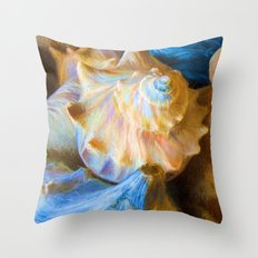 Impressionistic Shell Game Throw Pillow