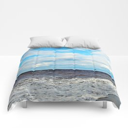 Flying Cormorants Comforters