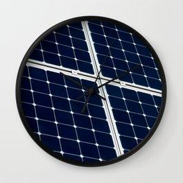 Solar power panel Wall Clock