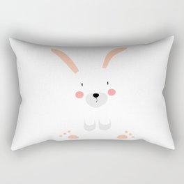 Bunny white Rectangular Pillow