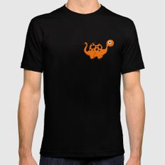 Dino Parade Mens Fitted Tee Black SMALL
