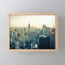 Good Evening New York City Framed Mini Art Print