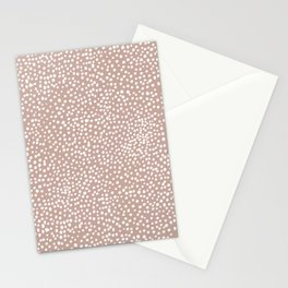 Little wild cheetah spots animal print neutral home trend warm dusty rose coral Stationery Cards