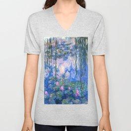 Water Lilies Monet Unisex V-Neck