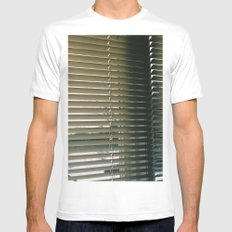 blinded White MEDIUM Mens Fitted Tee