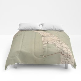 Vintage Map of Lower Cape Cod (1891) Comforters