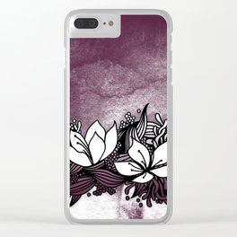 Flower Tangle Clear iPhone Case
