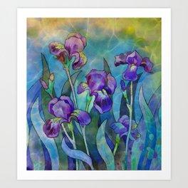 Fantasy Irises Art Print
