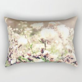 Thistle Bokeh Rectangular Pillow
