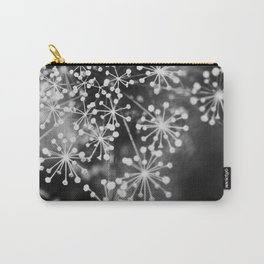 Dill In Black and White Carry-All Pouch