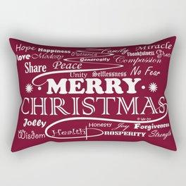 The Wishing Christmas Tree Rectangular Pillow