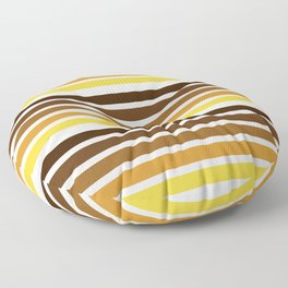 colorful lines warm colors decorative mininal pattern Floor Pillow
