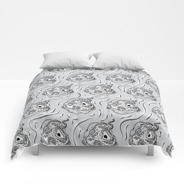 Many Cells in Grey Comforters