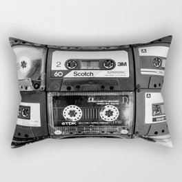 Something Nostalgic - black and white #decor #buyart #society6 Rectangular Pillow