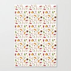 Autumn leaf pattern Canvas Print