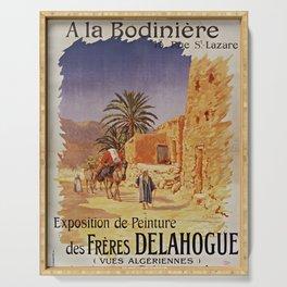 Affiche Expo Delahogue Bodinière 1908 Serving Tray