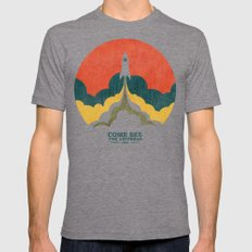 Come See The Universe MEDIUM Tri-Grey Mens Fitted Tee