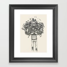 My beard... an amazing thing Framed Art Print