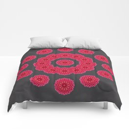 Red Circles Comforters