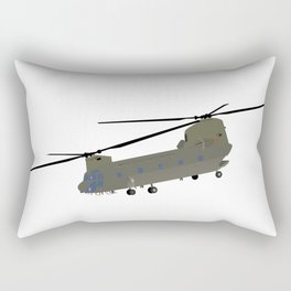 Military CH-47 Chinook Helicopter Rectangular Pillow