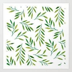 Willow -Green Art Print