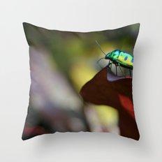 Iridescent Bug (Philippines) Throw Pillow