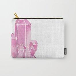 Rose Quartz Watercolor Carry-All Pouch