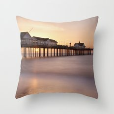 Southwold Pier at Sunrise Throw Pillow