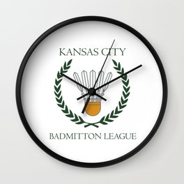 KC Shuttlecock Wall Clock