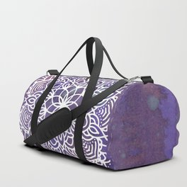 Ultraviolet Mandala #buyart #ultraviolet #mandala #society6 Duffle Bag