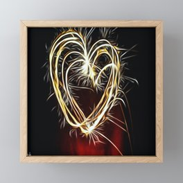 Heart Framed Mini Art Print