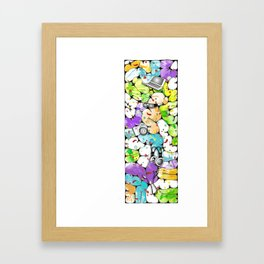the pieces of the future Framed Art Print