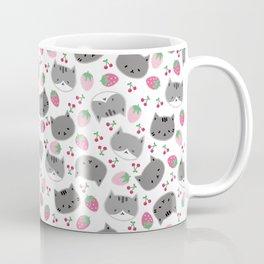 Meow cat love to eats strawberry & cherry Coffee Mug