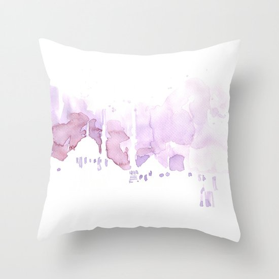 Watercolor landscape illustration_Istanbul Throw Pillow
