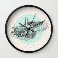 steam punk Wall Clocks featuring Steam punk by grop