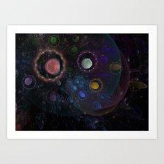 Fantasy cosmos Art Print