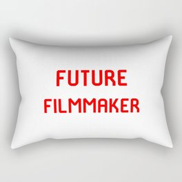 Future Filmmaker Red Film School Student Rectangular Pillow