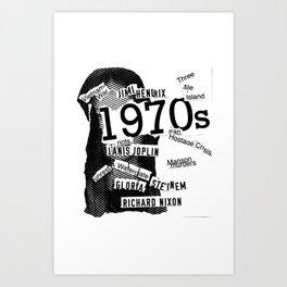 Misanthrope 70's Shirt Art Print