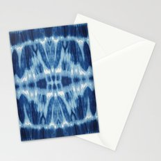 Tie Dye Blues Twos Stationery Cards