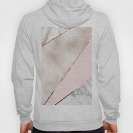 Spliced mixed rose gold marble Hoody