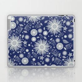 Beautiful Flowers in Navy Vintage Floral Design Laptop & iPad Skin