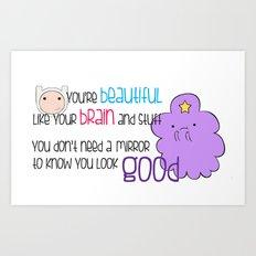 Your Beautiful Brain Art Print