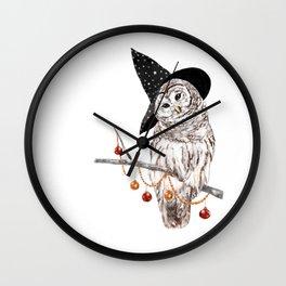 Halloween Owl Wall Clock