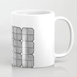 Black Squares Mosaic Coffee Mug