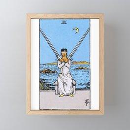 2 of Swords Framed Mini Art Print