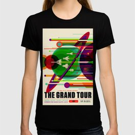 NASA Space Saturn Shuttle Retro Poster Futuristic Explorer T-shirt