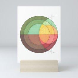 Concentric Circles Forming Equal Areas Mini Art Print