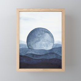 Moon Landscape Framed Mini Art Print