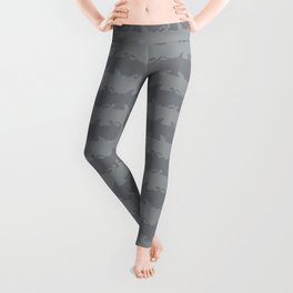 Bondi Beach Grey Hammerhead Shark Attack Beach Stripe Leggings