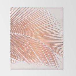 Palm leaf - copper pink Throw Blanket